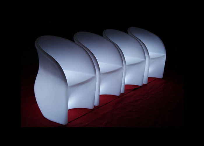 Modern Flash Led Patio Furniture IP54 Light Up Garden Chairs Wear Resistance
