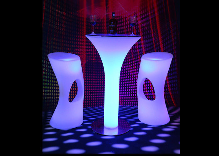 PE LED Illuminated Furniture Counter Led Bar Table IR Remote Control